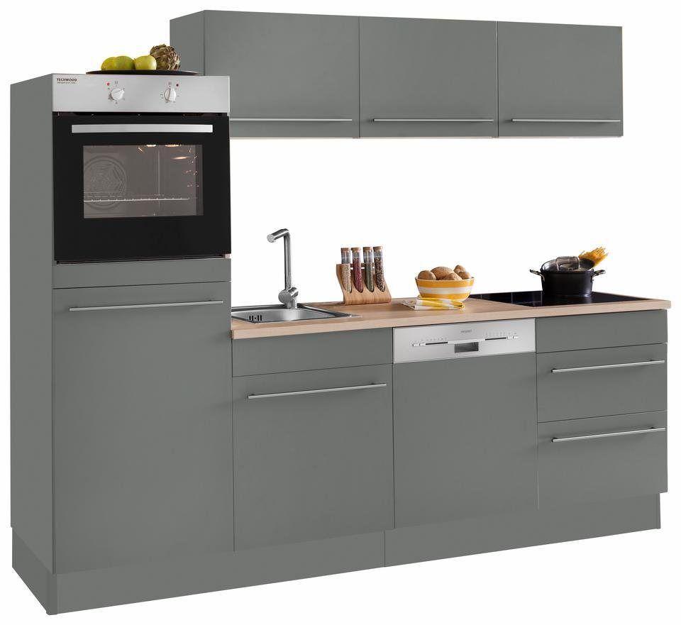 Kuchenzeile Bern Mit E Geraten Breite 240 Cm Mit Hohenverstellbaren Fussen Kuchenzeilen Innenarchitektur Kuche Und Kuche