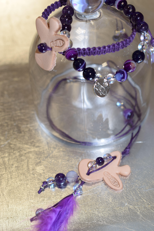 67c602bb78e4 Cherubín v levanduli  šperkový se složen z náhrdelníku a dvou náramků- .  Vyroben z