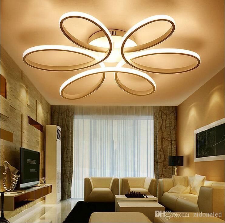 Modern Minimalism Led Ceiling Chandelier Lighting Aluminum Flower Led Ceiling Light Fixture For Liv Led Ceiling Lights Ceiling Lights Modern Led Ceiling Lights