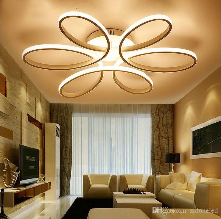 Modern Minimalism Led Ceiling Chandelier Lighting Aluminum Flower