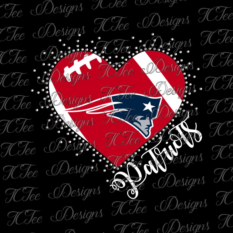 Patriots Heart New England Patriots Mixed Media