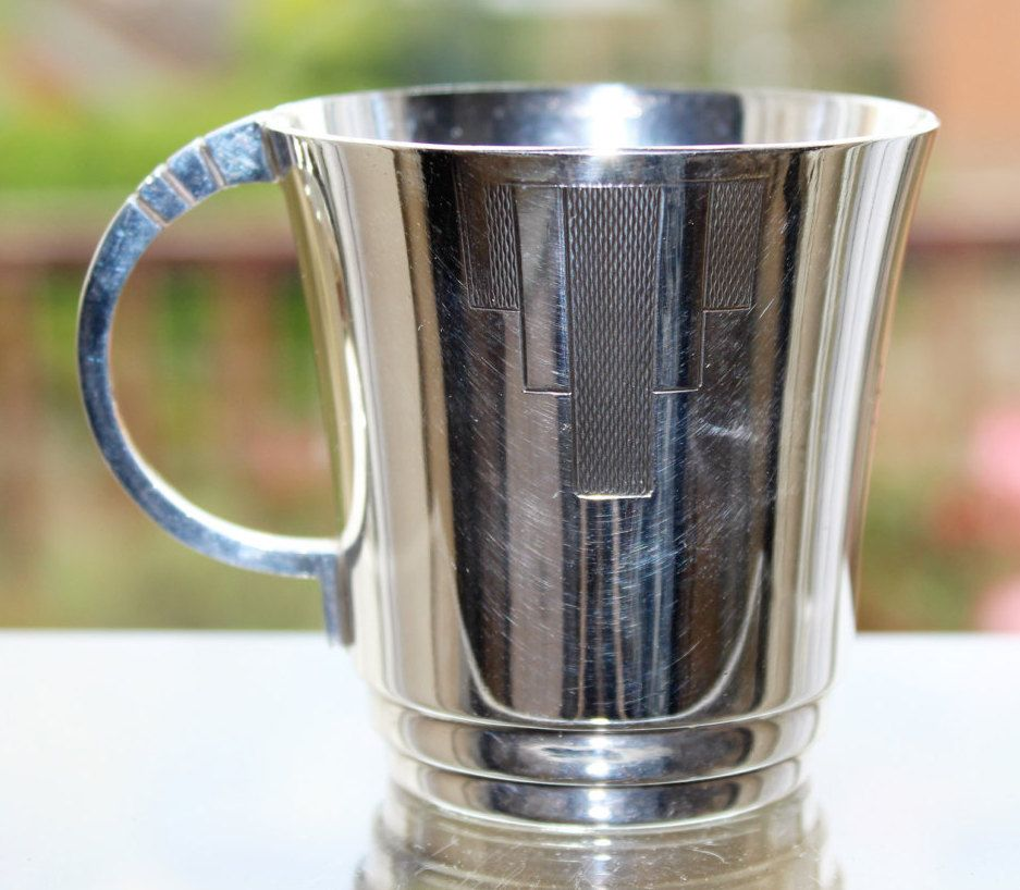 FREE SHIPPING Art Deco Silver Plated Eugene Leclere Sheffield EPNS Cup/Mug…