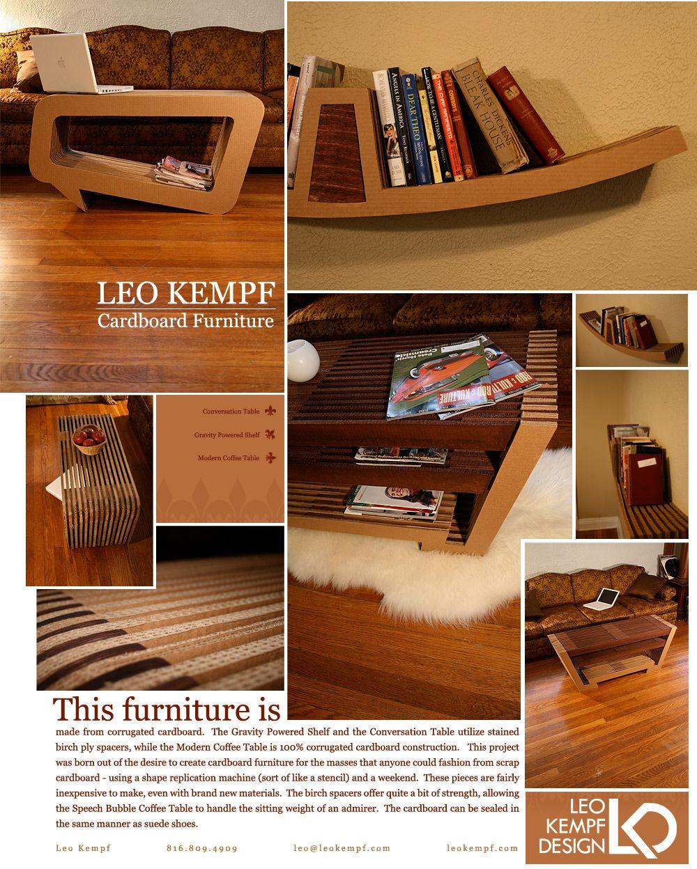 esto quedaria muy bien en la sala  Leo Kempf: Cardboard furniture