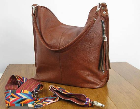 9e19397e5c4e Cognac Brown Hobo Bag