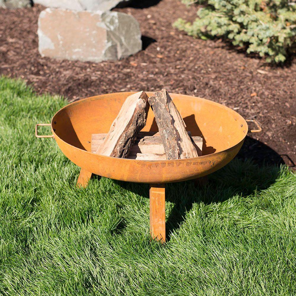 Rustic Cast Iron Fire Pit Bowl
