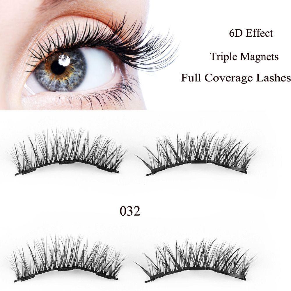 330eaf5beba $0.99 - 4Pcs/Set Skonhed Magnetic Eyelashes Reusable Full Eye False Eye  Lashes Extension #