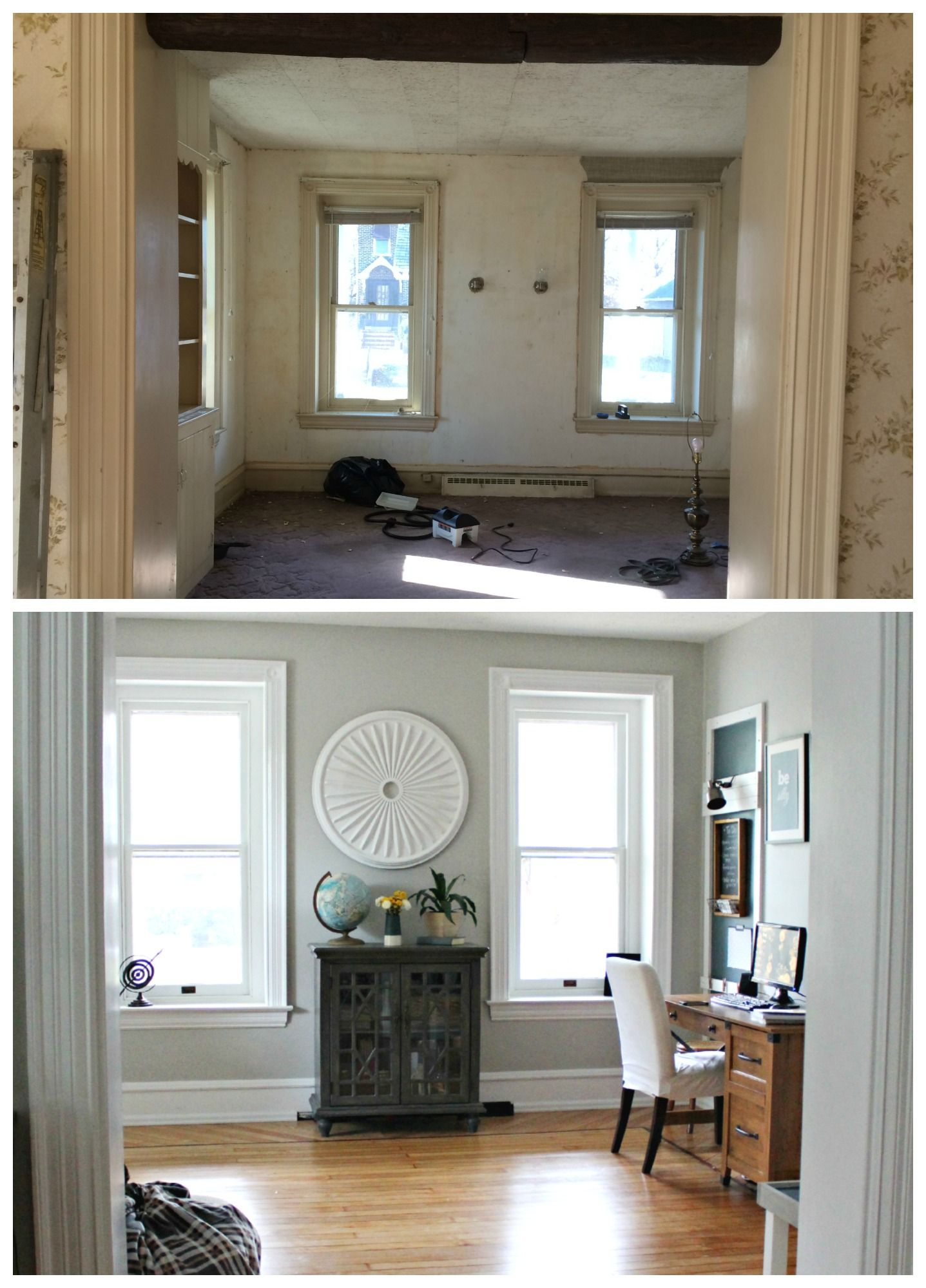 Office Before And After Old Home Remodel Old Home Renovation