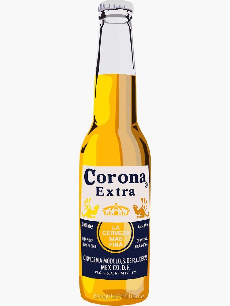 Corona Bottle Sticker By Knightsofshame Corona Bottle Corona Drink Bottle