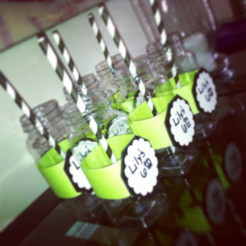 Plastic Milk Mini Jars For Drinks Maleficent Theme Birthday.