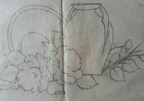 Jarro,vasilha e rosas