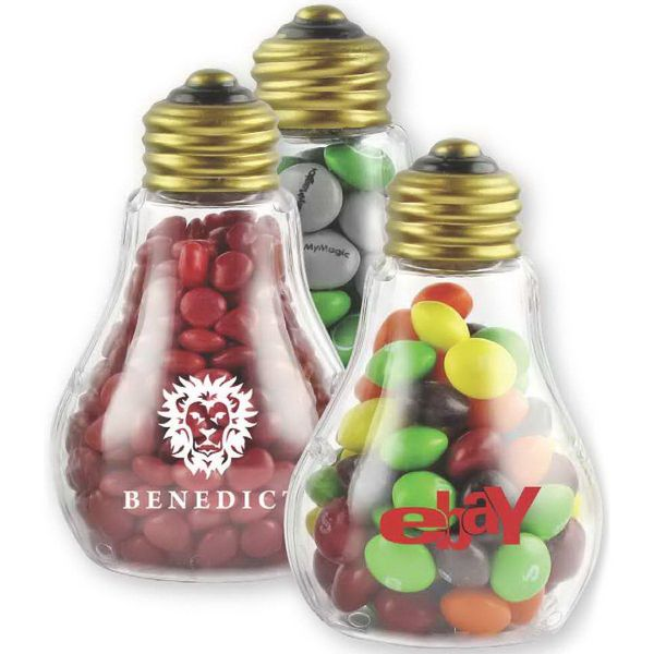 Plastic Light Bulb With Chocolate Buttons Light Bulb Jar Bright Gifts Company Gifts