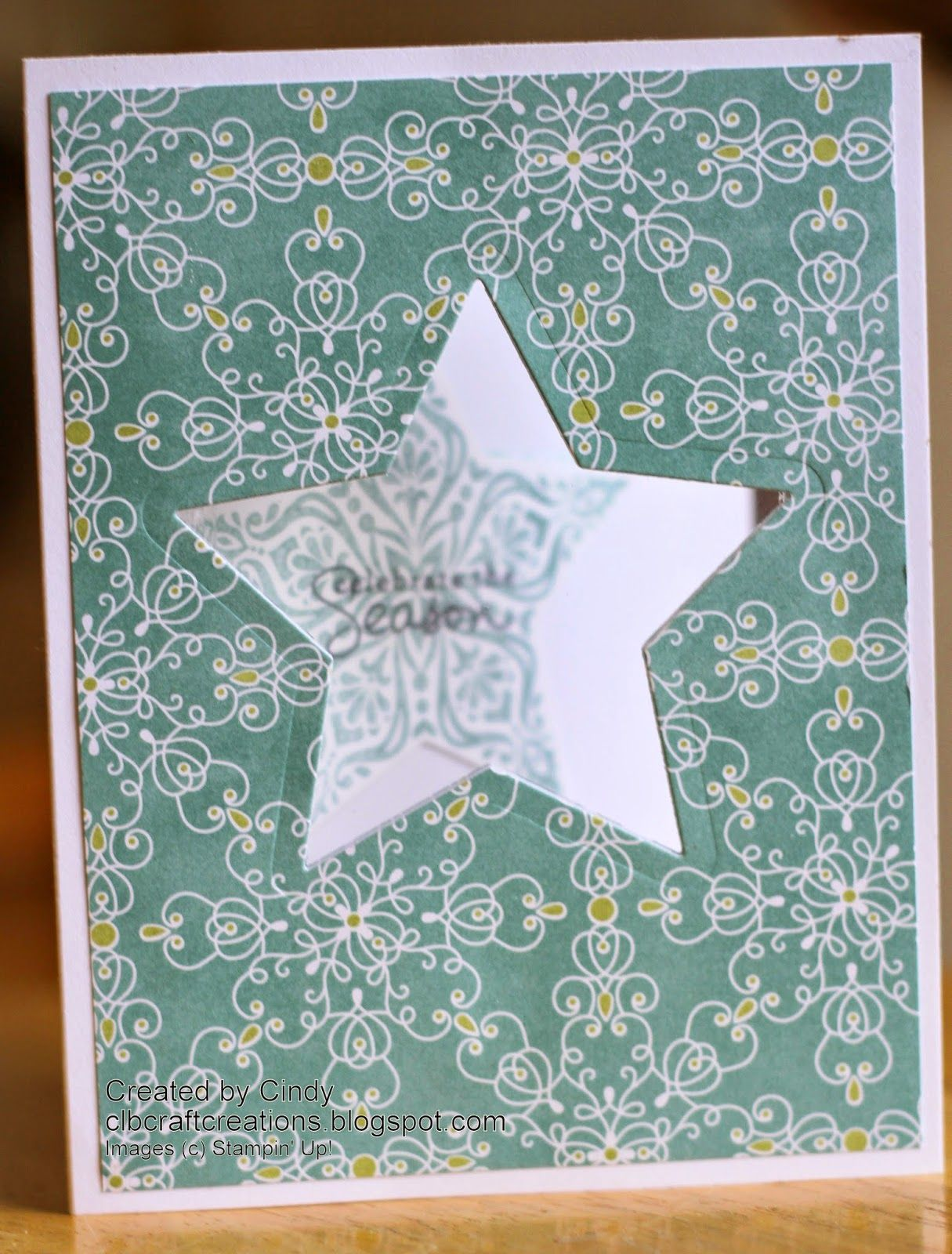 2014 holiday card series  day 6 featuring stampin' up
