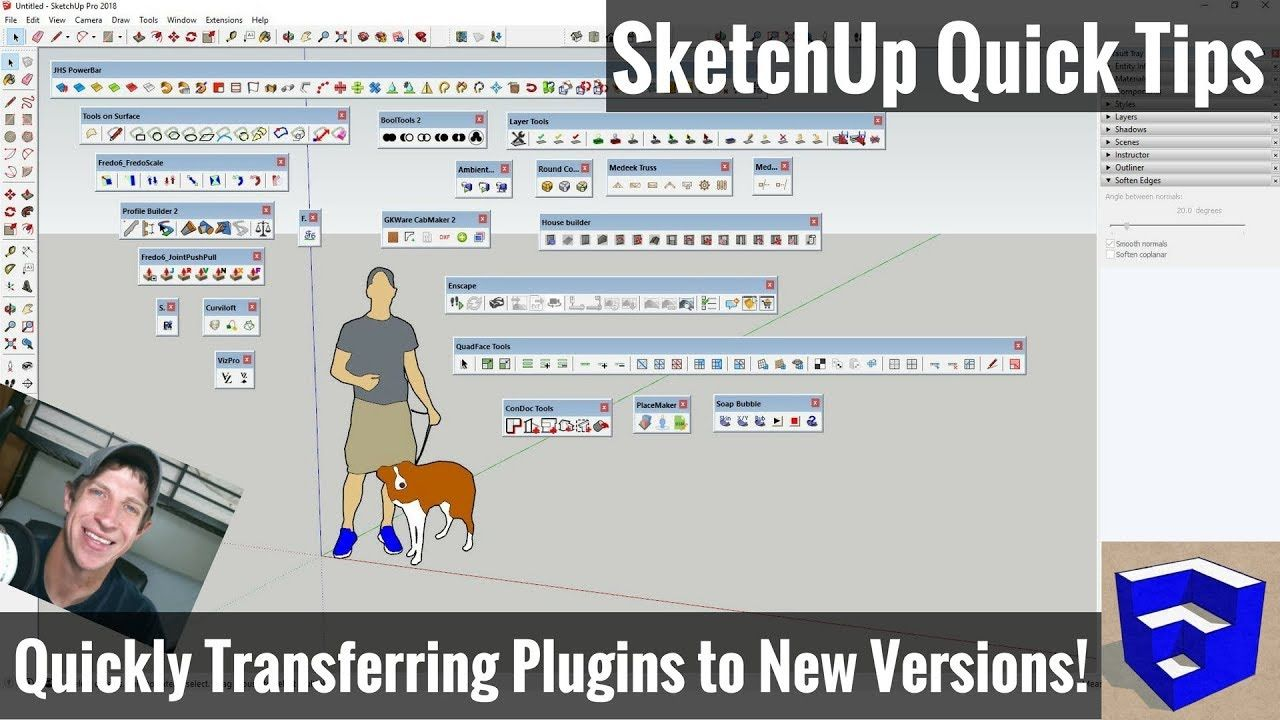 Move Plugins and Extensions from SketchUp 2017 to SketchUp 2018