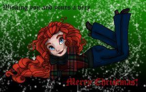 Modern Merida A Very Merry Christmas by Phoenix-DreamAngel