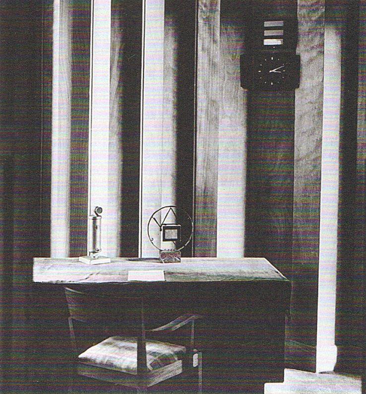 Berlin, Mikrophonzimmer im Propagandaministeriums am Wilhelmplatz 1938. Von hier konnte Goebbels seine Hetzreden direkt in den Rundfunk übertragen.