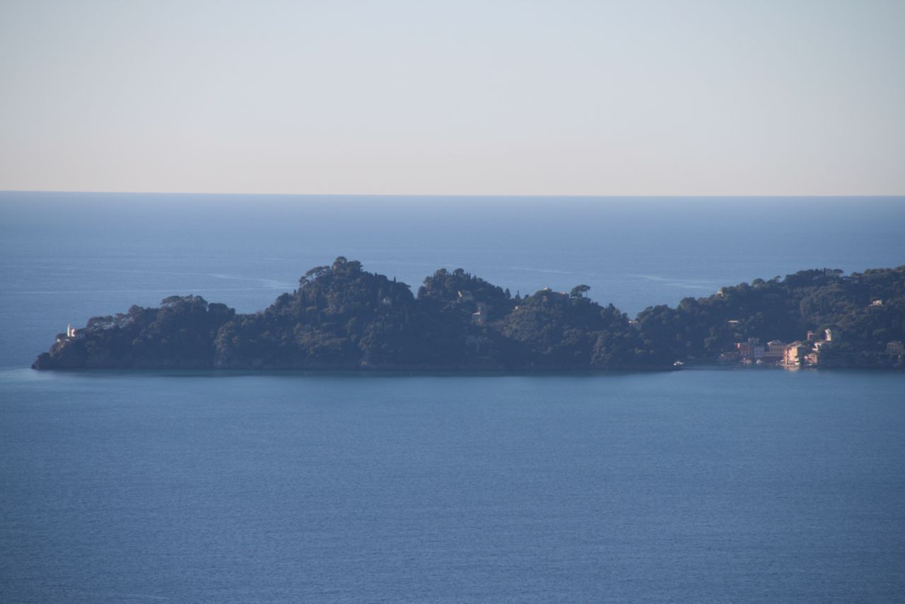 view of Portofino from Zoagli, Italy