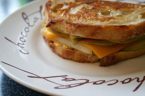 grilled cheese with pear