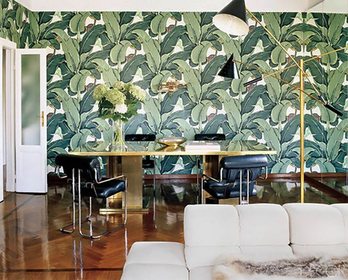 Beverly Hills Banana Leaf Wallpaper