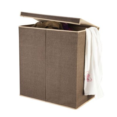 Villacera 2 Compartment Laundry Hamper With Magnetic Lid Laundry