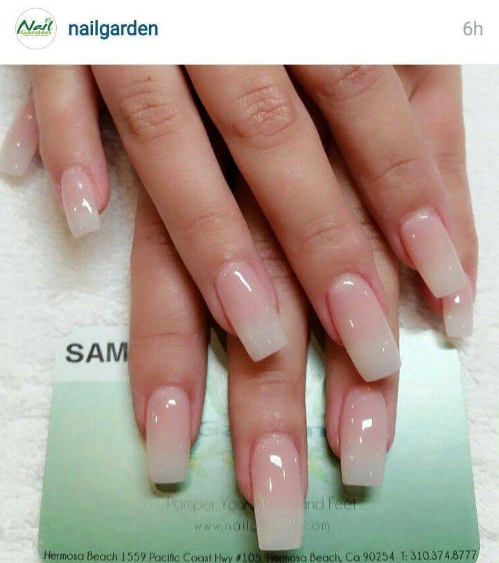 Long natural french nail are an absolute favorite at todays nail ...
