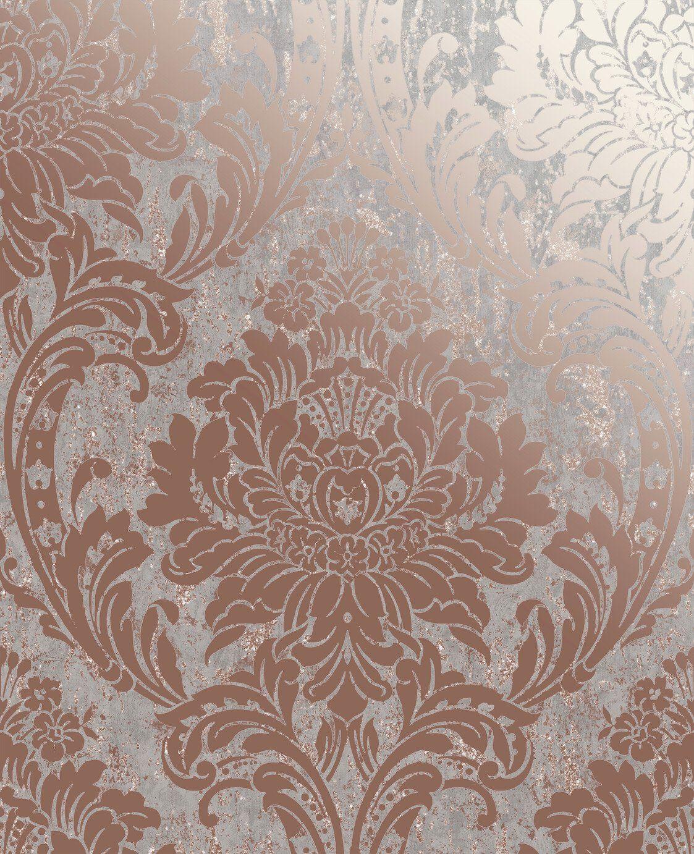 Buy Superfresco Milan Damask Rose Gold Wallpaper Wallpaper Argos Gold Damask Wallpaper Rose Gold Wallpaper Damask Wallpaper