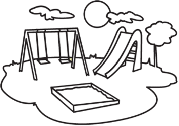 Playground Coloring Clip Art Clip Art Drawing For Kids Playground