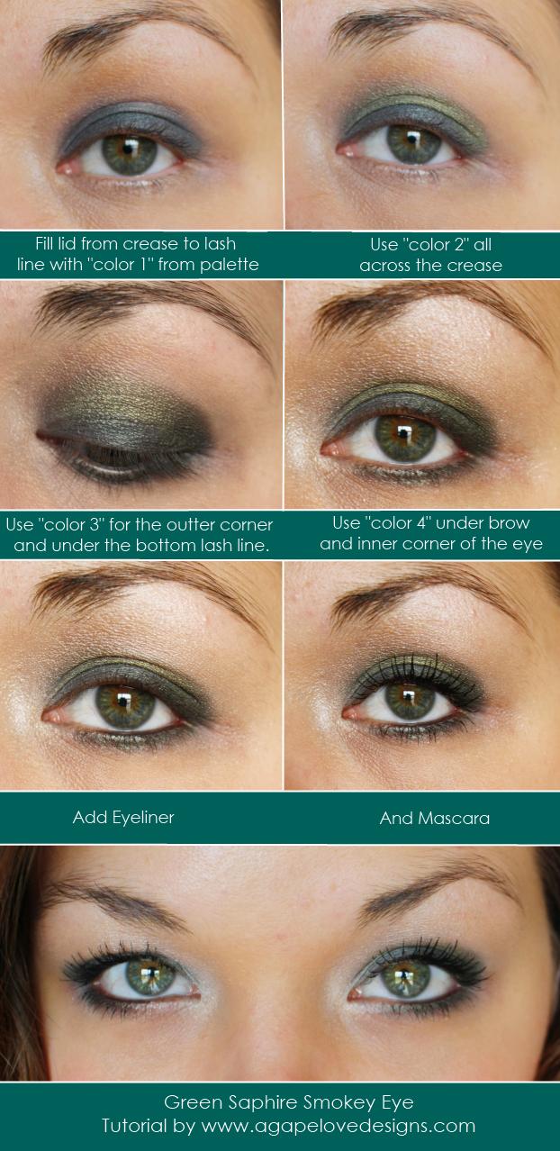 Green Sapphire Smokey Eye Tutorial by @Agape Love Girl www.agapelovedesigns.com