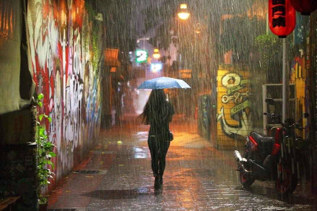 Past Midnight. Blue Brolly After Midnight: Brian Yen; Taipei, Taiwan.