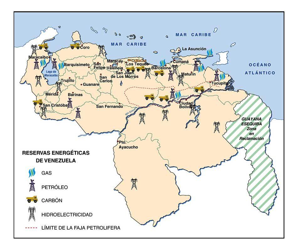 Mapa De Reservas Energeticas De Venezuela My Travel Venezuela