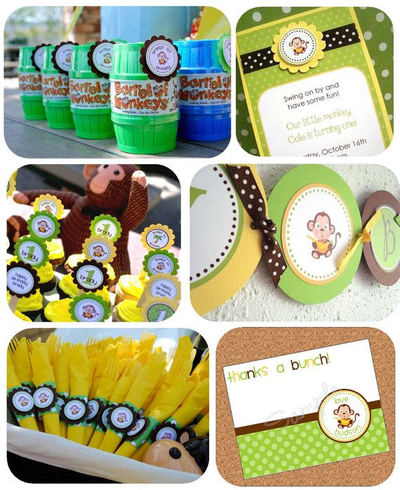 Monkey Party Pack Party SuperherosSpiderman Pinterest Monkey
