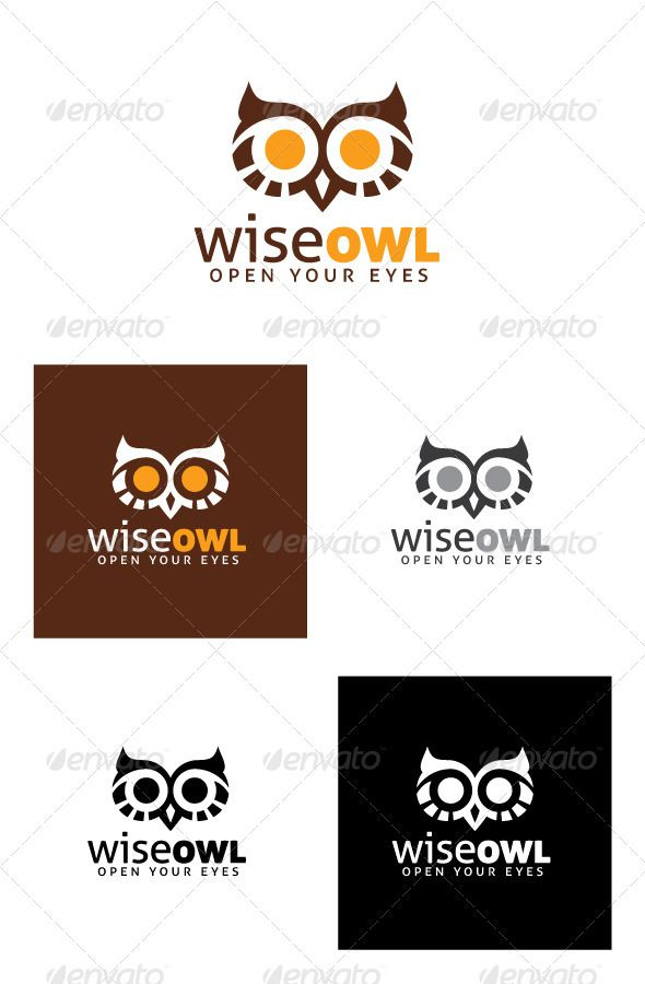Wise Owl Logo Graphicriver The Owl Has Been A Symbol Of Wisdom