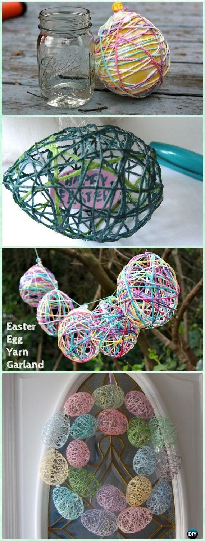 Diy Yarn Easter Egg Treats Wreath Instruction Yarn Crafts Ideas No