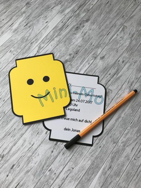 Einladungskarten   5 X Einladung Kindergeburtstag Lego   Ein Designerstück  Von MiniMoHandmade Bei DaWanda