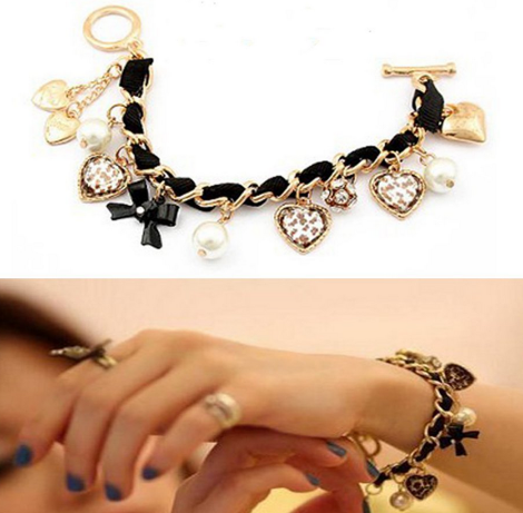 *HOT* Juicy Couture Inspired Leopard Leather Woven Bracelet Only $1.59 + FREE Shipping