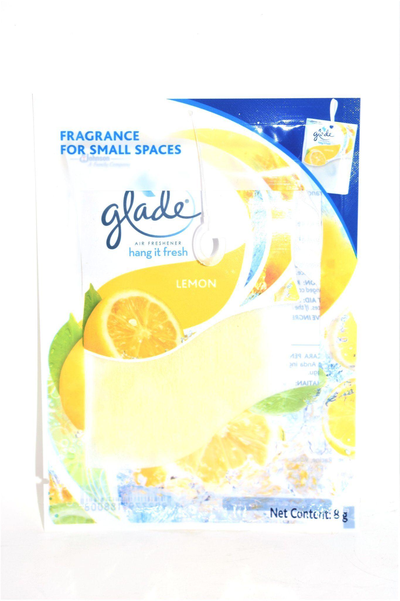 Glade Air Freshener Hang It Fresh Lemon Scent, 8g
