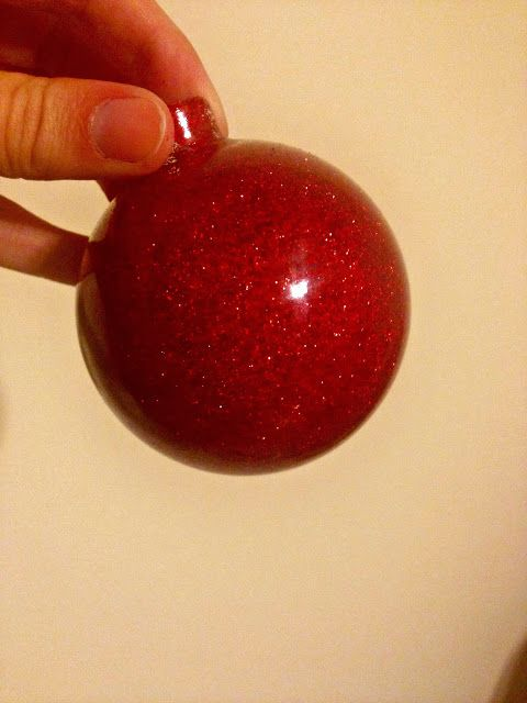 Glittered Ornaments how to #blogherholidays