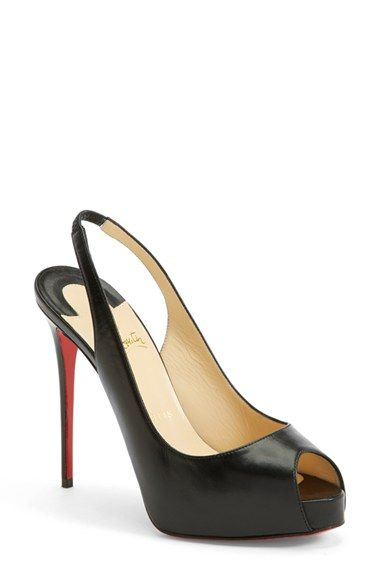 Christian Louboutin Peep Toe Slingback Sandal (Women) available at   Nordstrom 019e8b69d