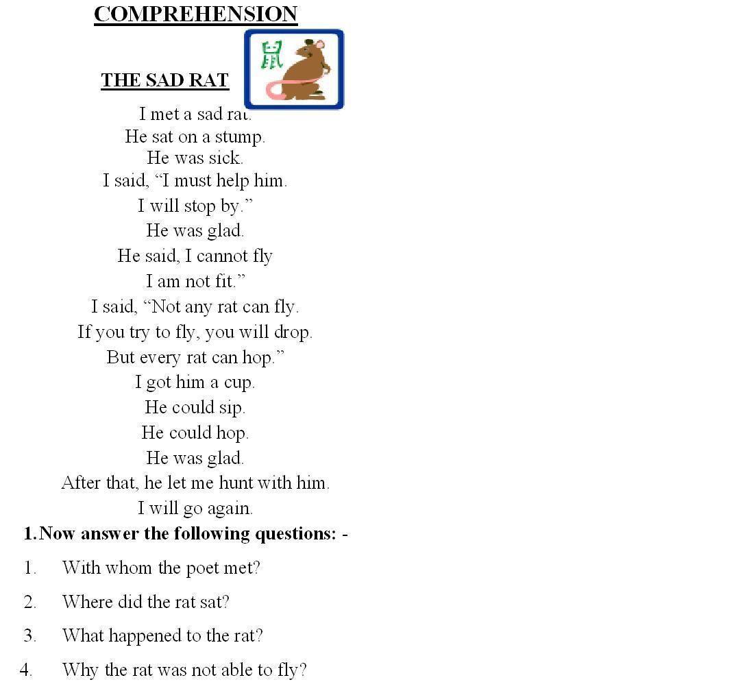 1st Grade Reading Comprehension Worksheets Education Fun