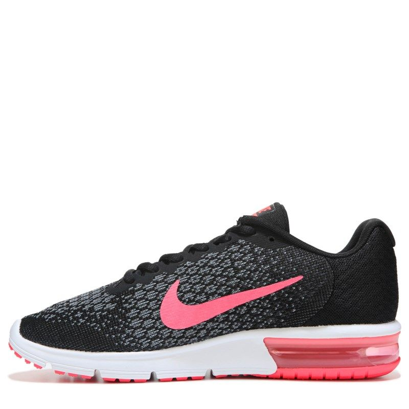 Nike Women s Air Max Sequent 2 Running Shoes (Black Pink Grey) - 10.0 M d93bef7ca9e0