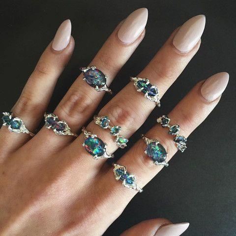 Drest Opal Ring Australian Opal Ring Pretty Rings Opal Rings