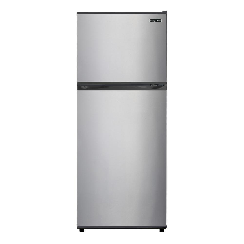 Magic Chef 9.9 cu. ft. Top Freezer Refrigerator in White   Top ...