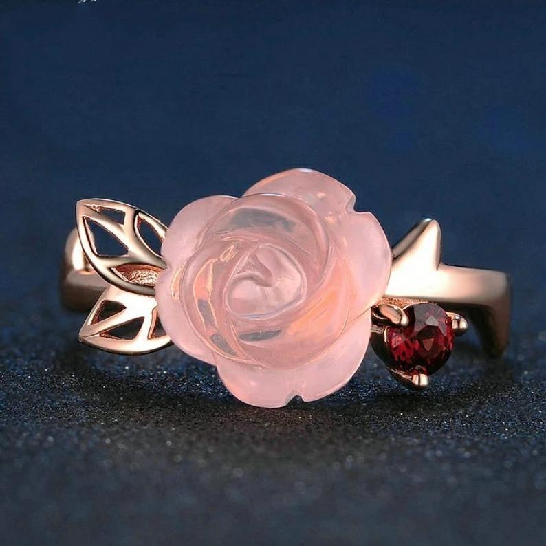 universal love Sterling Silver 925 Rose Quartz Earrings-lovely design-stylish