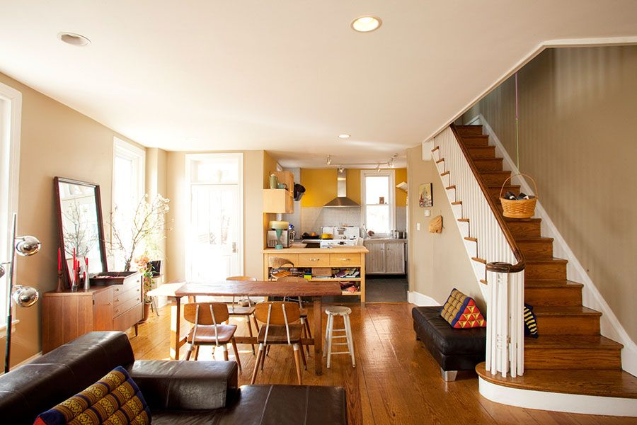 Philadelphia row homes interior design of a block of row for Best row house designs
