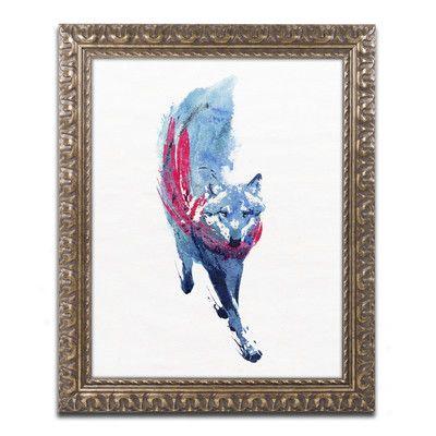 "Trademark Art ""Lupus Lupus II"" by Robert Farkas Ornate Framed Painting Print Size: 20"" H x 16"" W x 0.5"" D"