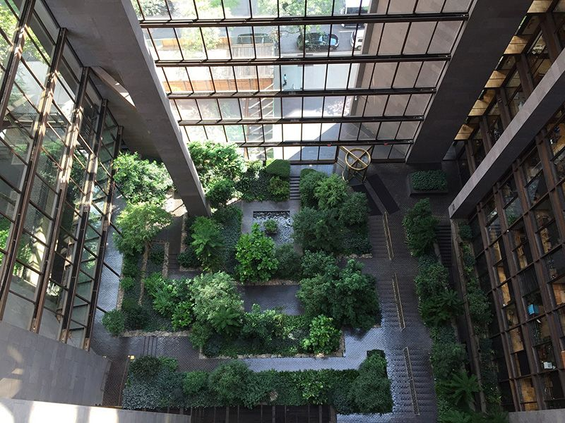 Top Ten Hidden Gardens-Ford Foundation Atrium Garden-NYC | City ...