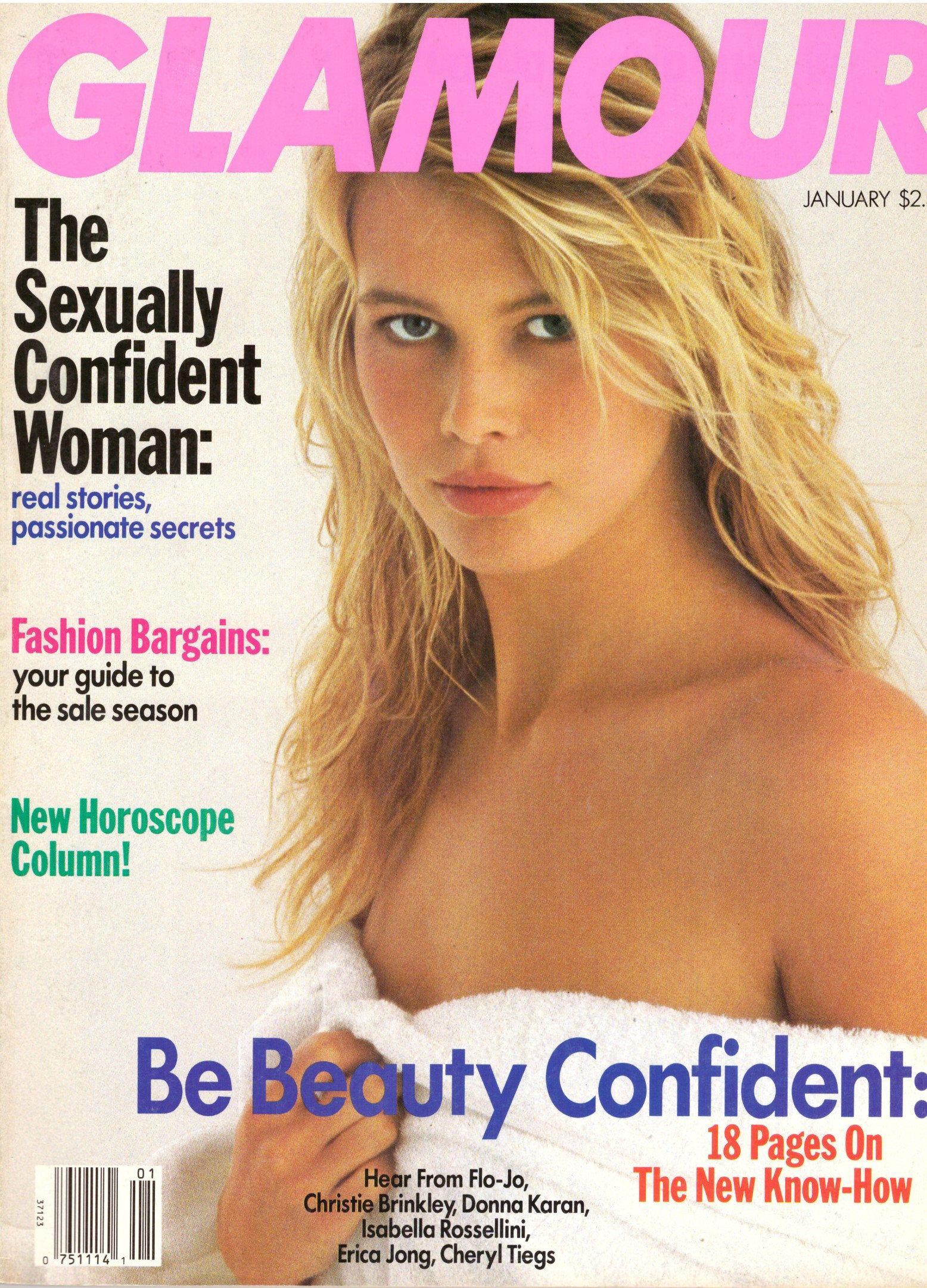 Claudia Schiffer Sex Tape 1990 glamour fashion magazine carla bruni sarkozy claudia