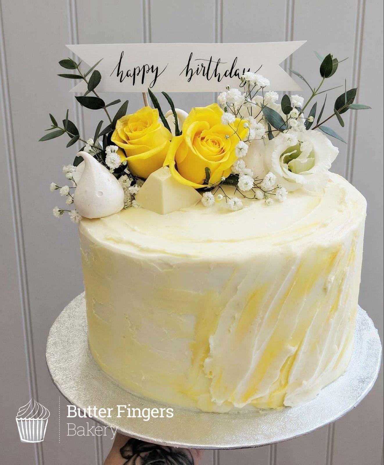 Tasty Homemade Cakes Baked Freshly In Matlock Lemon Birthday
