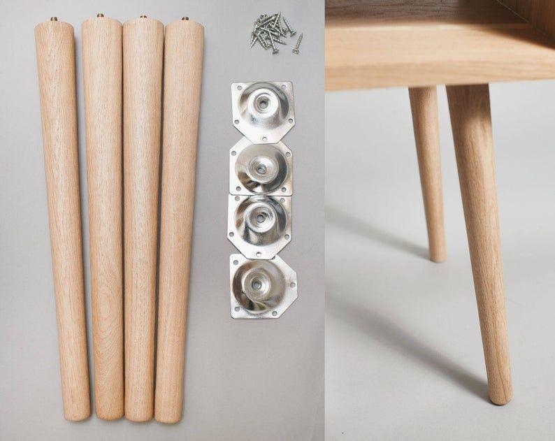 4 X Tapered Legs In Solid R Oak Furniture Leg Coffee Table Legs Turned Leg Retro Legs Dansette Legs M Furniture Legs Wood Table Legs Solid Oak Furniture