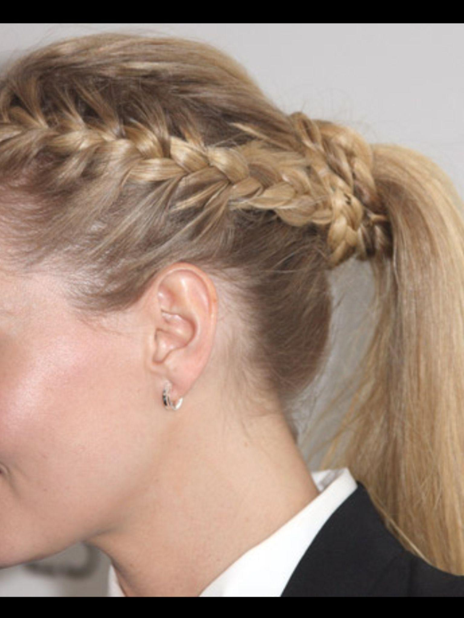 Coleta trenzas hairstyle pinterest medium hair
