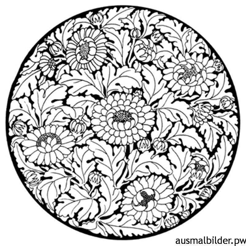 Ausmalbilder Mandala Für Erwachsene 09 Tangle Pinterest